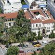 Vue aérienne de l'ancienne maison de Gianni Versace à Miami située sur Ocean Drive