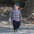 Samuel, ultramignon, croisé avec sa mère à Pacific Palisades, le 16 septembre 2013.