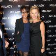 Audrey Pulvar et Laurence Ferrari à l'inauguration de la nouvelle boutique Milady, avenue Raymond Poincaré à Paris, le 18 septembre 2013.