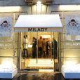 Inauguration de la nouvelle boutique Milady, avenue Raymond Poincaré à Paris, le 18 septembre 2013.