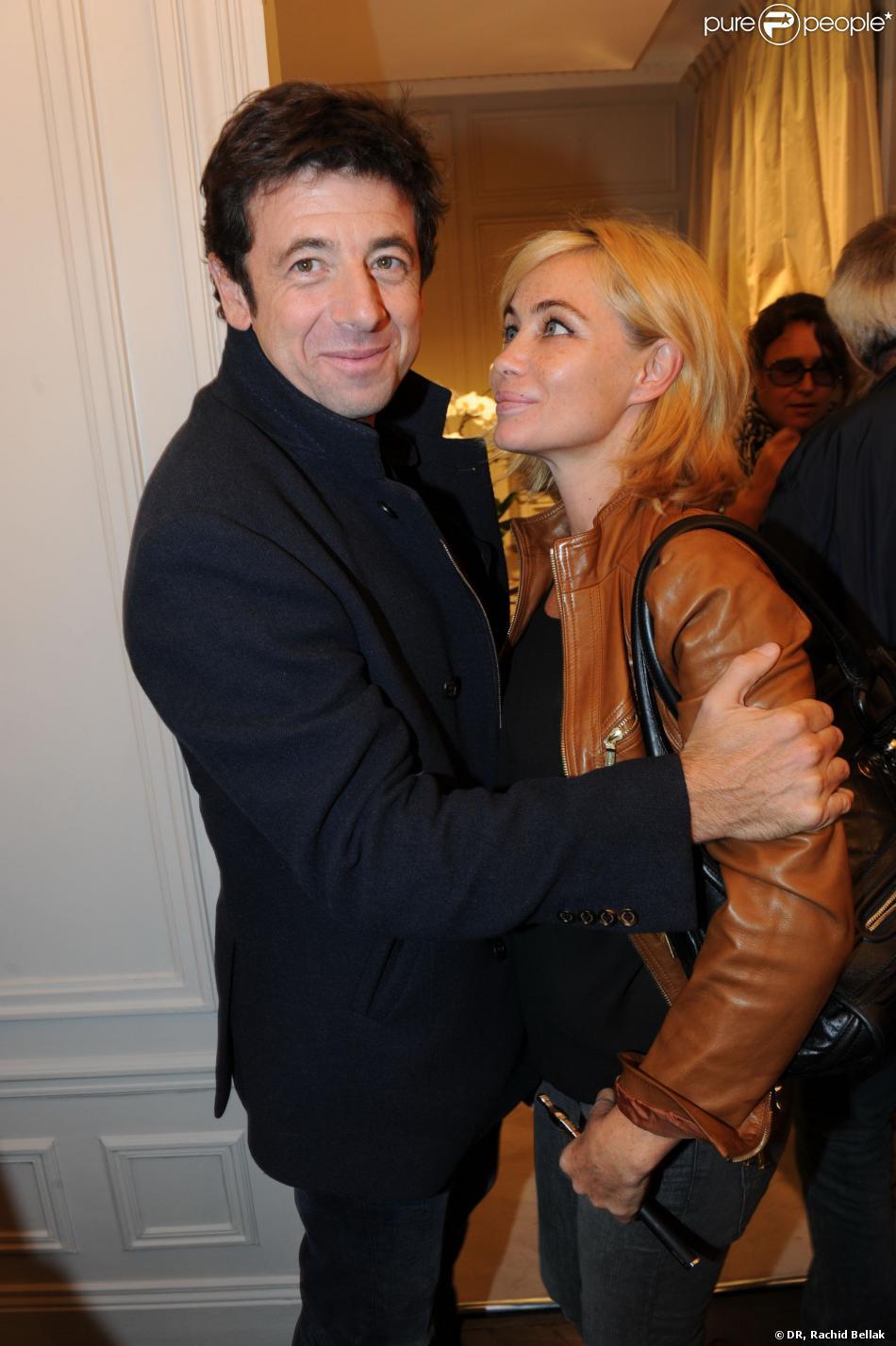 Patrick et Emmanuelle Béart à l'inauguration de la nouvelle boutique Milady, avenue Raymond Poincaré à Paris, le 18 septembre 2013.