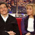 Christian Clavier et Marie-Anne Chazel lors de l'émission Vivement dimanche le 21 févfier 2002