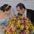La princesse Mary le 18 septembre 2013 lors du dîner de gala en l'honneur du président du Vietnam Truong Tan Sang et son épouse Mai Thi Hanh, en visite d'Etat de trois jours.