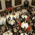 Ambiance et discours au dîner de gala offert au palais de Fredensborg par la reine Margrethe II de Danemark pour le couple présidentiel vietnamien, le 18 septembre 2013