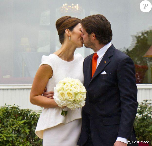 Mariage civil, le 17 septembre 2013, du prince Felix de Luxembourg et de Claire Lademacher, célébré au palace Villa Rothschild Kempinski de Königstein im Taunus, en Allemagne.