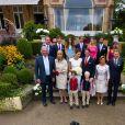 Photo de famille au mariage civil, le 17 septembre 2013, du prince Felix de Luxembourg et de Claire Lademacher, célébré au palace Villa Rothschild Kempinski de Königstein im Taunus, en Allemagne.