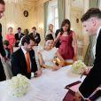 Mariage civil du prince Felix de Luxembourg et de Claire Lademacher, célébré le 17 septembre 2013 au palace Villa Rothschild Kempinski de Königstein im Taunus, en Allemagne.