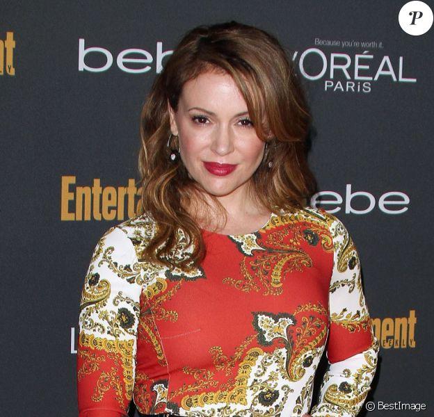 Alyssa Milano à la soirée pré-Emmy Awards à Los Angeles, le 20 septembre 2013.
