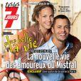 Aurélie Vaneck et Ambroise Michel posent pour Télé 7 Jours, en kiosques le 18 mars 2013.