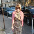 Anna Wintour arrive au défilé Balenciaga le 26 septembre 2013 à Paris.