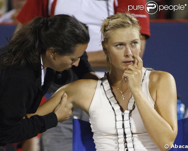 Maria Sharapova en plein effort
