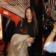 Nabilla Benattia lors du défilé de mode Jean-Paul Gaultier, collection prêt-a-porter printemps-éte 2014, au Paradis Latin à Paris, le 28 septembre 2013, durant la Fashion Week