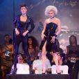 Coco Rocha lors du défilé de prêt-à-porter printemps-été 2014 de Jean-Paul Gaultier, au Paradis Latin, à Paris, le 28 septembre 2013