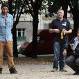 Jean-Marie Bigard et Daniel Lauclair - Tournoi de pétanque organisé place des Invalides à Paris et dont les fonds ont été reversés à l'association Meghanora, seule association en Europe à aider la recherche concernant les tumeurs rénales de l'enfant. Le 29 septembre 2013.