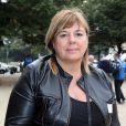 Michèle Bernier - Tournoi de pétanque organisé place des Invalides à Paris et dont les fonds ont été reversés à l'association Meghanora, seule association en Europe à aider la recherche concernant les tumeurs rénales de l'enfant. Le 29 septembre 2013.