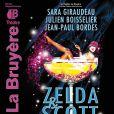 L'affiche de la pièce Zelda & Scott avec Sara Giraudeau et Julien Boisselier
