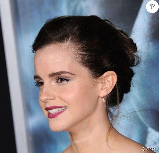 Emma Watson lors de la première du film Gravity au AMC Lincoln Square à New York, le 1er octobre 2013.