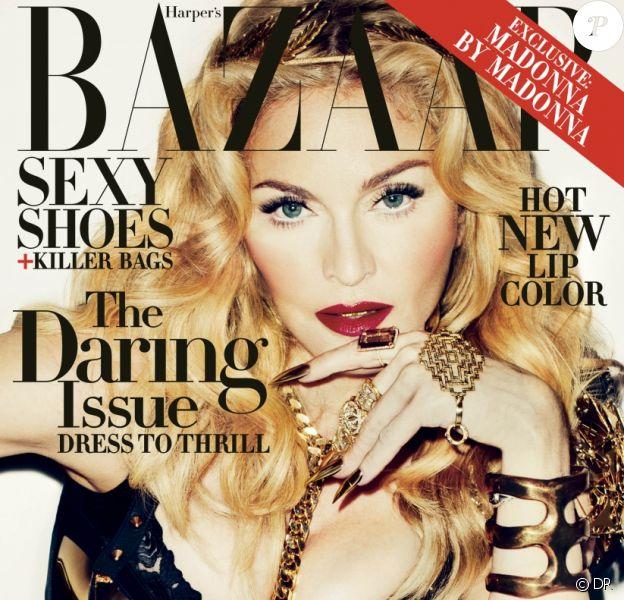 Madonna pose en couverture du magazine Harper's Bazaar. Novembre 2013