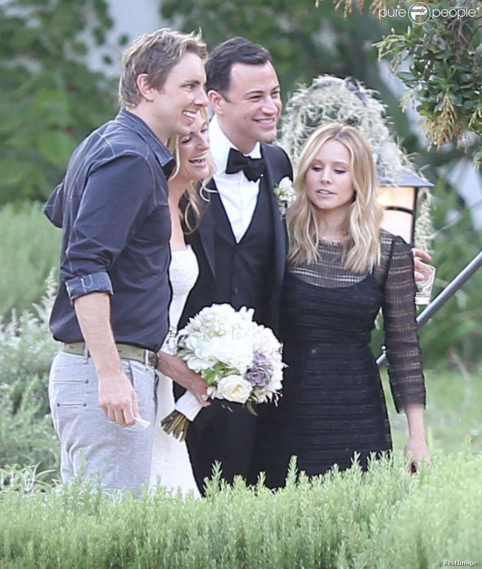 kristen bell et son fianc dax shepard au mariage de jimmy kimmel et molly mcnearney ojai le. Black Bedroom Furniture Sets. Home Design Ideas