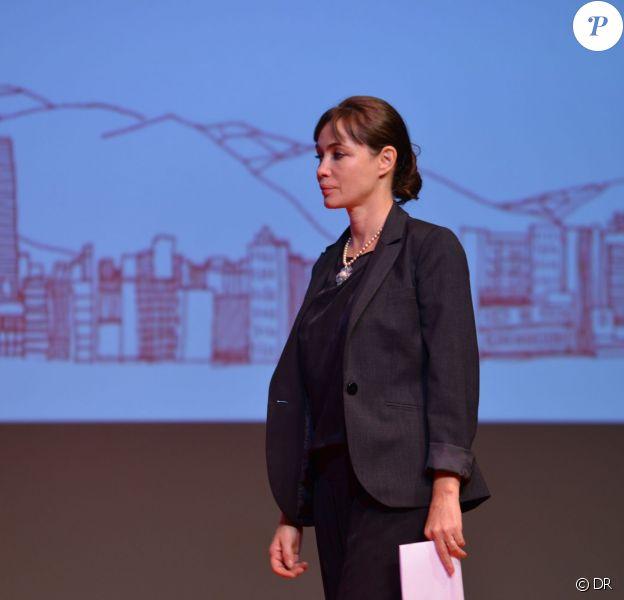 Emmanuelle Béart, membre du jury du 22e Festival du film d'Amérique latine de Biarritz (2013), lors de la cérémonie de clôture le 5 octobre 2013