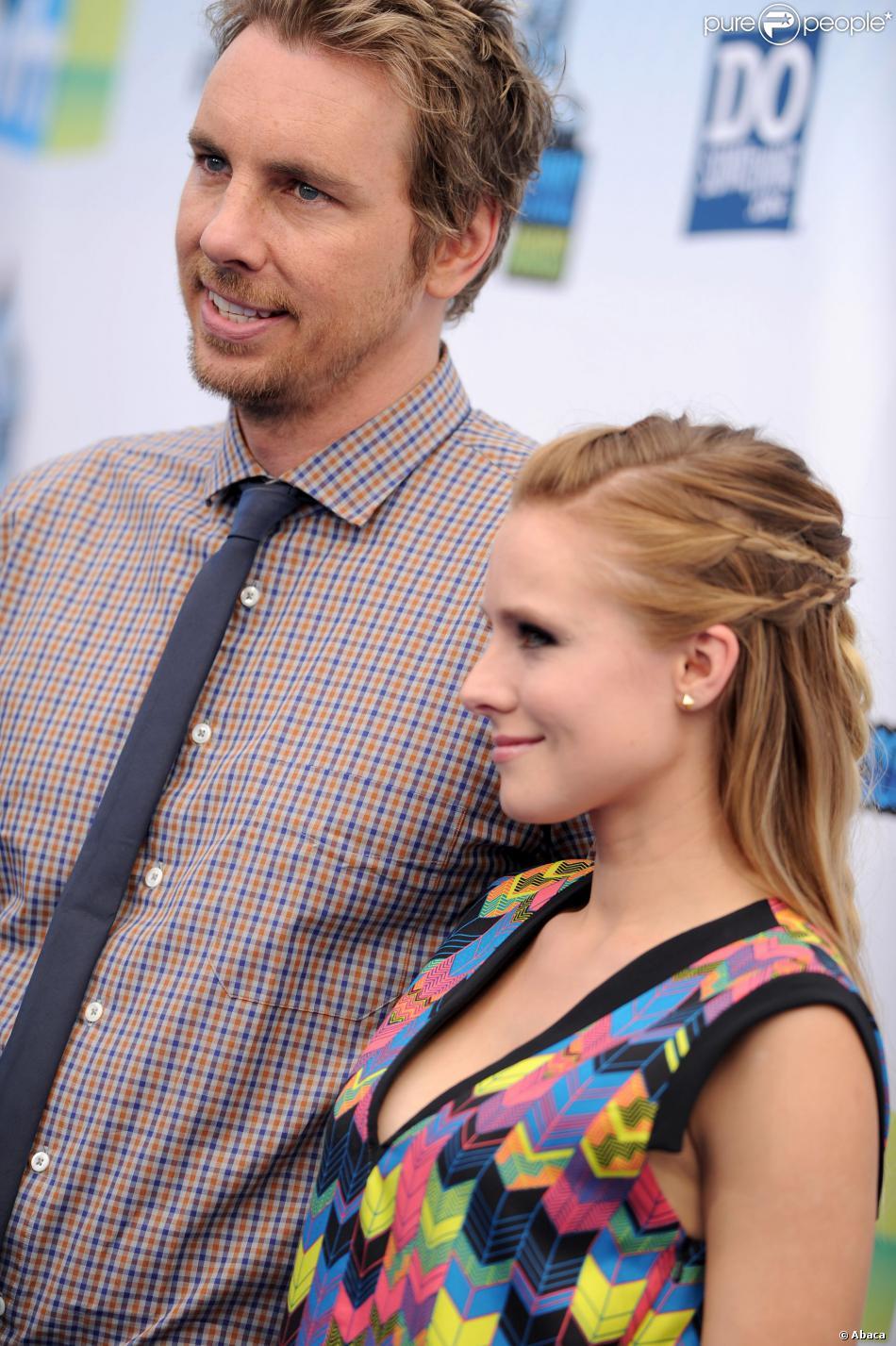 Dax Shepard et Kristen Bell à Santa Monica, Los Angeles, le 19 août 2012