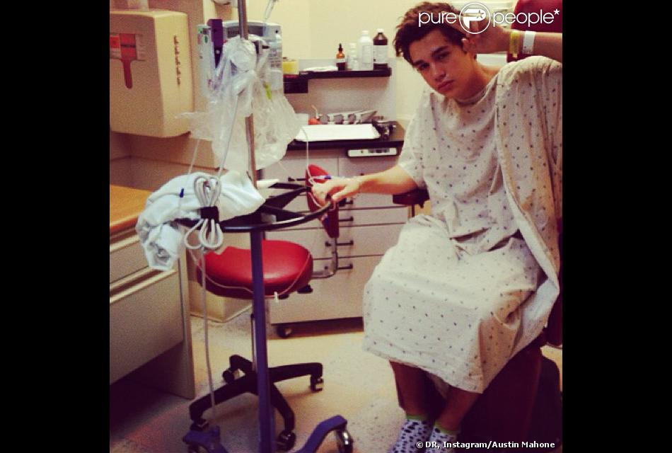 Austin Mahone hospitalisé le 17 octobre 2013.