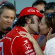 Dario Franchitti, et Ashley Judd après la course Firestone Indy 300 le 10 octobre 2009