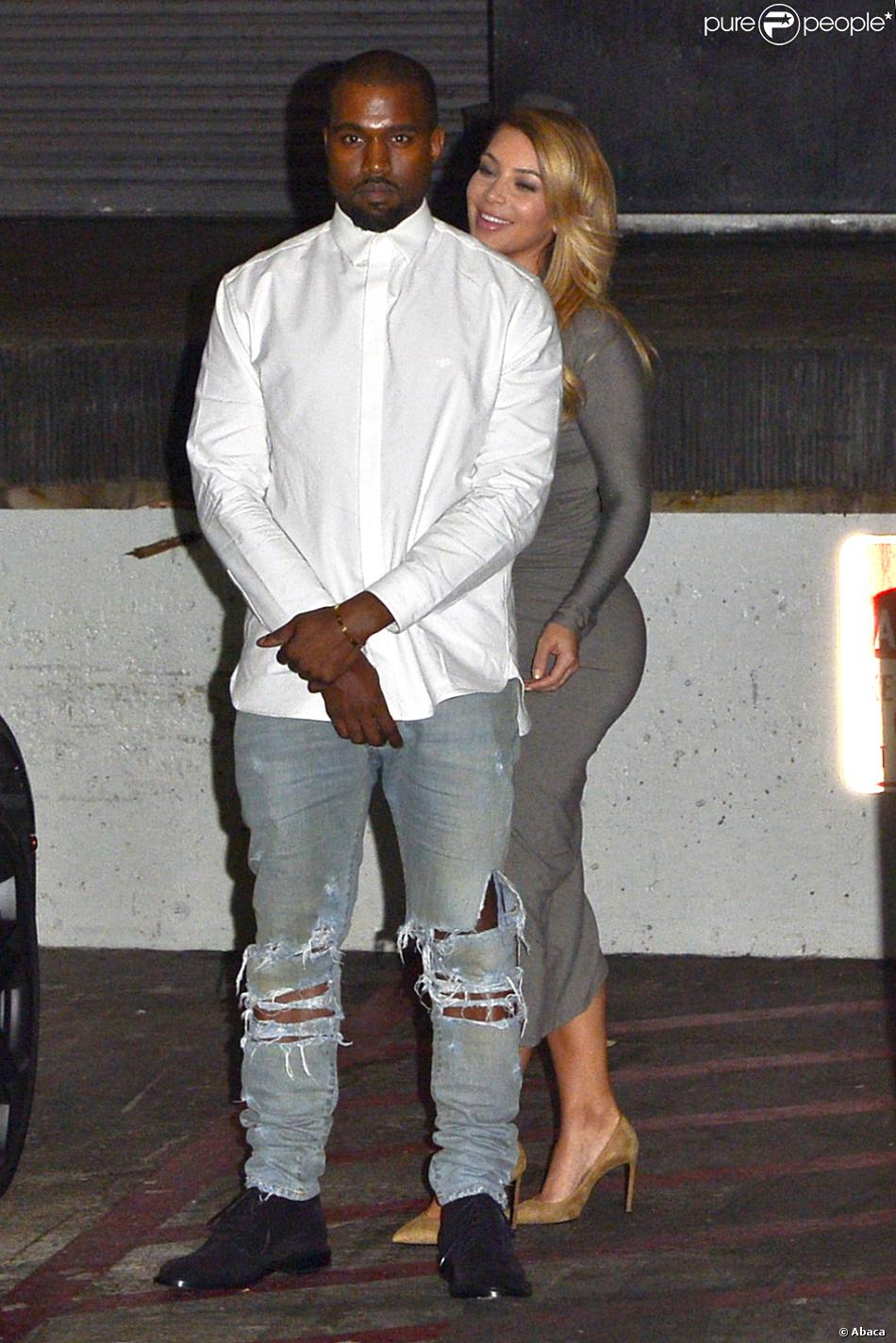 Kanye West et Kim Kardashian à Los Angeles, le 11 octobre 2013.