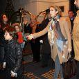 Céline Dion et son fils René-Charles quittent leur hôtel de New York, le 7 décembre 2009.