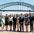Frederik et Mary de Danemark en visite à l'Opéra de Sydney, notamment pour lancer le programme MADE, le 25 octobre 2013