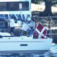 Frederik et Mary de Danemark dans la rade de Sydney, le 24 octobre 2013