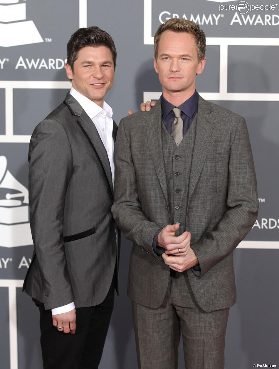 Neil Patrick Harris et David Burtka à la 55e cérémonie des Grammy Awards à Los Angeles, le 10 février 2013.