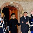 Le couple royal des Pays-Bas à la commémoration du prince Friso d'Orange-Nassau en la Vieille Eglise de Delft (La Haye) le 2 novembre 2013.