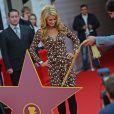 La socialite Paris Hilton inaugure son étoile sur le Walk of Fame de Moscou, le samedi 2 novembre 2013.