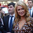La très jolie Paris Hilton inaugure son étoile sur le Walk of Fame de Moscou, le samedi 2 novembre 2013.