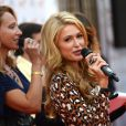 Paris Hilton inaugure son étoile sur le Walk of Fame de Moscou, le 2 novembre 2013.