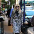 Courtney Love se promène dans les rues de New York, le 23 septembre 2013.