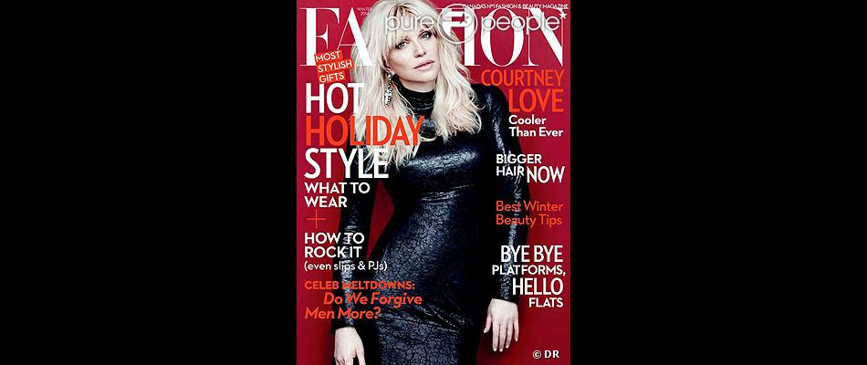 Courtney Love en couverture du magazine  FASHION , hiver 2013.