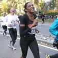 Marie-José Pérec lors du marathon de New York, le 3 novembre 2013