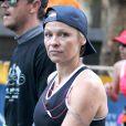 Pamela Anderson lors de l'édition 2013 du marathon de New York le 4 novembre 2013