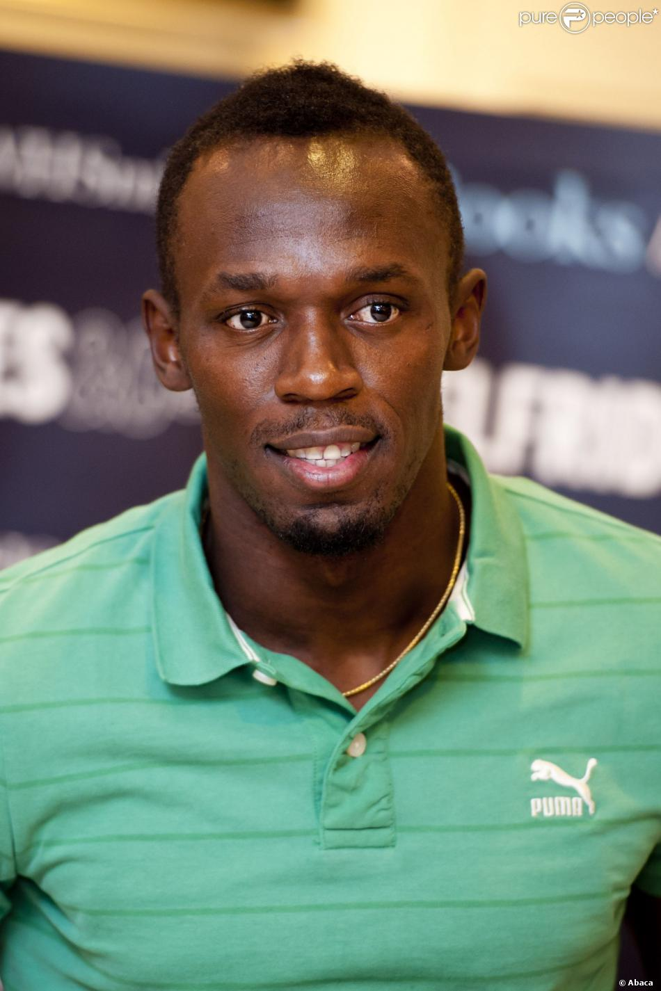 The 31-year old son of father Wellesley Bolt and mother Jennifer Bolt, 196 cm tall Usain Bolt in 2017 photo