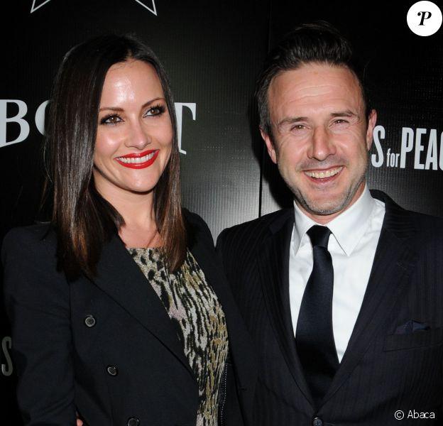 """David Arquette et sa compagne Christina McLarty lors de la soirée """"Hollywood Domino and Bovet 1822"""" à Los Angeles le 21 février 2013"""