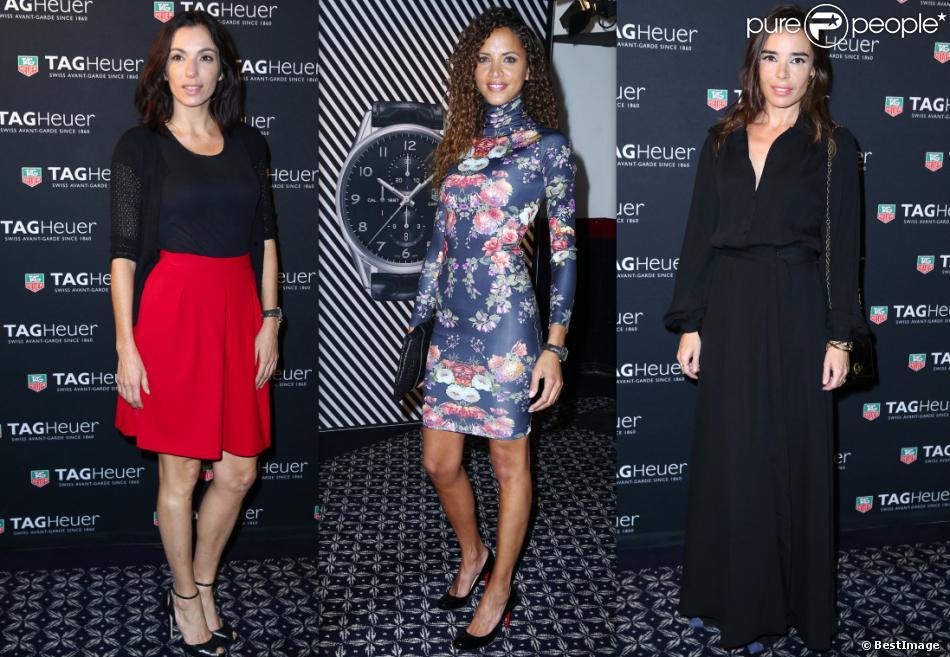Aure Atika, Noémie Lenoir et Elodie Bouchez à la soirée Tag Heuer le 6 novembre 2013.