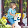 Exclusif - Denise Richards, ses filles Lola et Sam et les enfants de Charlie Sheen Bob et Max au parc à Beverly Hills, le 25 juillet 2013.
