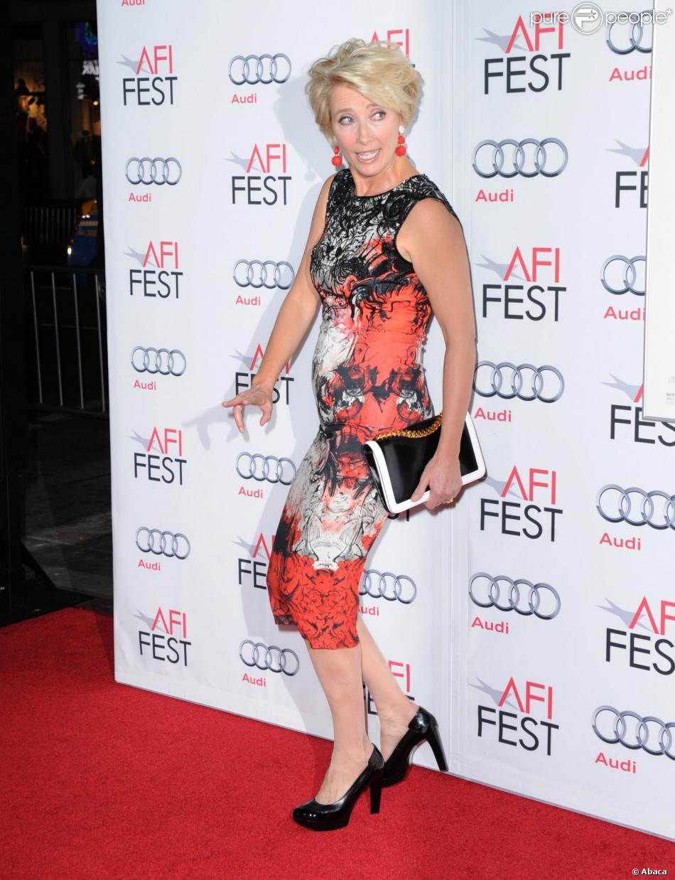 Emma Thompson lors de la soirée d'ouverture de l'AFI Festival, à Los Angeles le 7 novembre 2013
