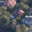 Vue aérienne de la maison de Robert Pattinson, le mercredi 30 octobre 2013, à Los Angeles
