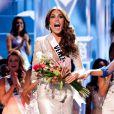 Gabriela Isler, Miss Venezuela 2013, lauréate aux anges lors de la finale de Miss Univers au Crocus City Hall. Moscou, le 9 novembre 2013.