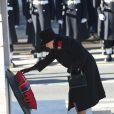 La reine Elizabeth ll lors des cérémonie du Remembrance Day au Cénotaphe de Whitehall à Londres, le 10 novembre 2013