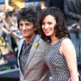 Ronnie Wood et Sally Humphreys à Londres, le 20 août 2013.