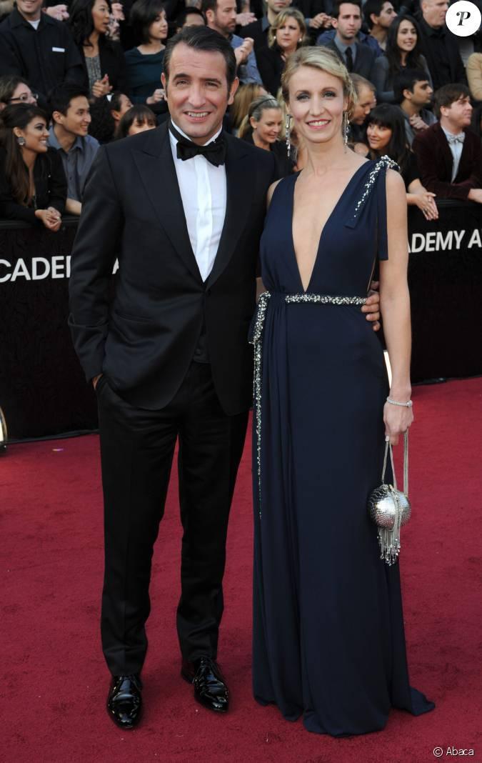 Jean dujardin et alexandra lamy sur le tapis rouge des for Jean dujardin separation